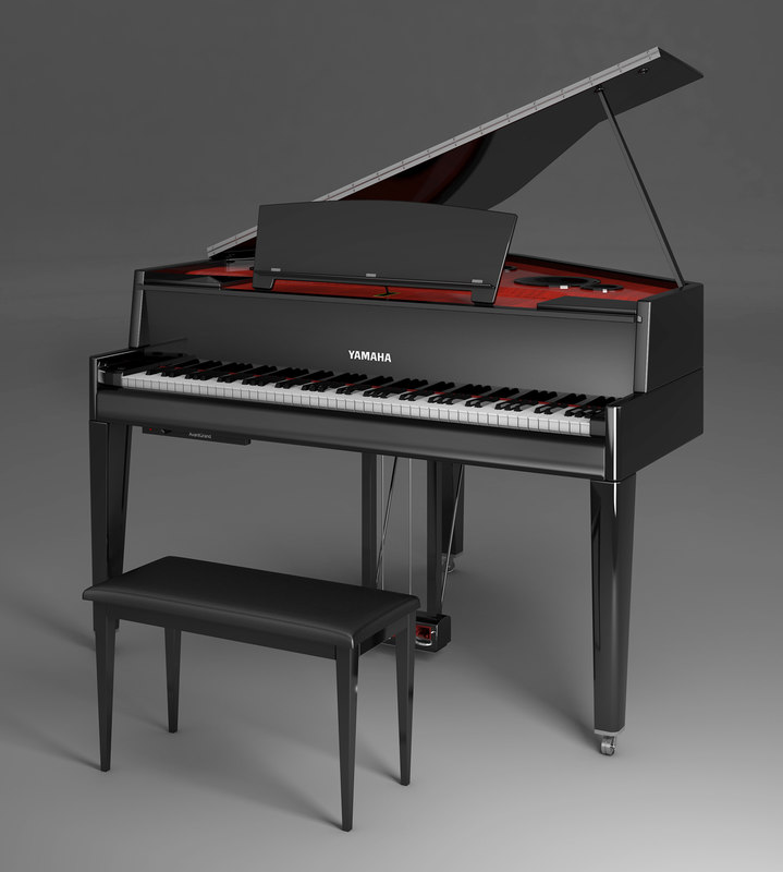 3d model electric grand piano yamaha