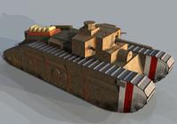 3d model medium mark b tank
