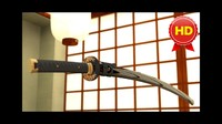 HD JAPANESE KATANA SWORD / Fully Textured