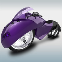 3d model of concept motorcycle