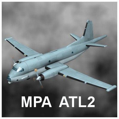 breguet maritime patrol aircraft 3d max
