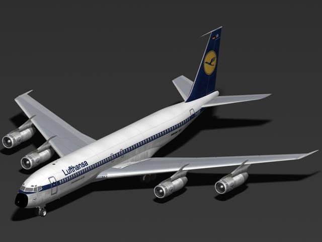3ds max b 707-300 lufthansa 707