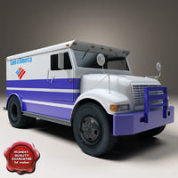 3d bank armored truck model