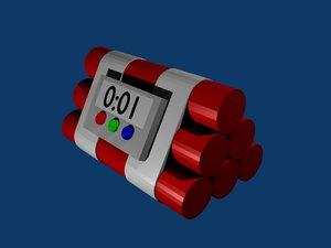 free time bomb 3d model