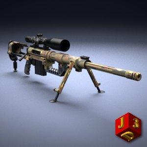 sniper rifle cheytac m200 3d model