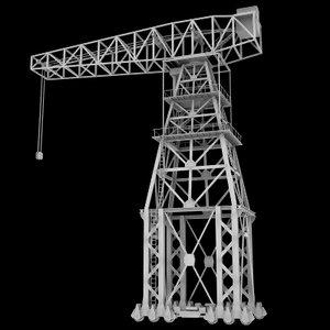 3ds vintage dock crane
