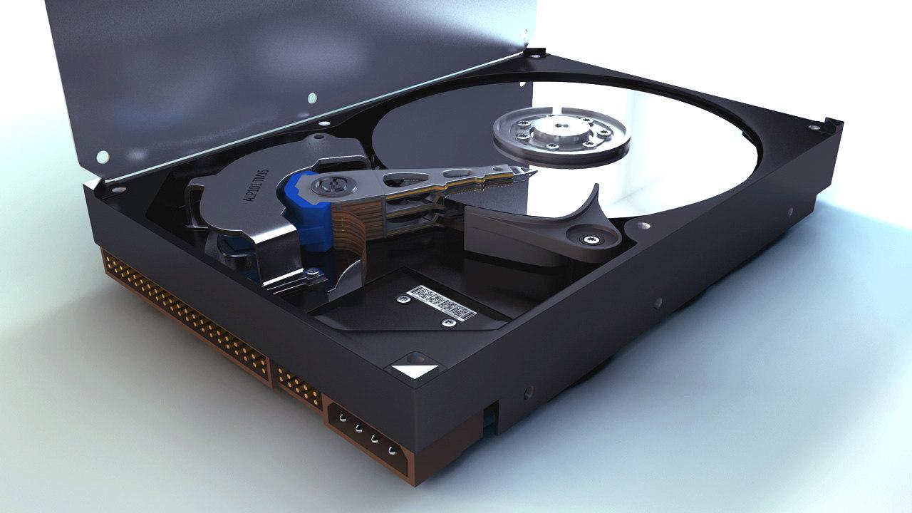 3d model hard drive components