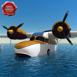 3d grumman goose amphibious aircraft model