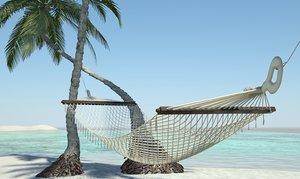 3d model of hammock beach