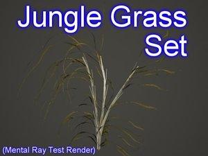 set jungle grasses 3d max