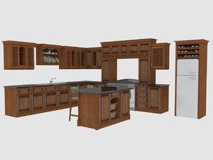 kitchen rustic 3d max