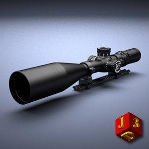 scope optical sight nightforce 3d model