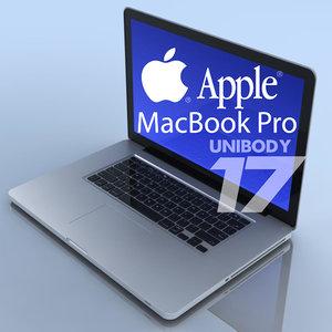 3d notebook apple macbookpro 17