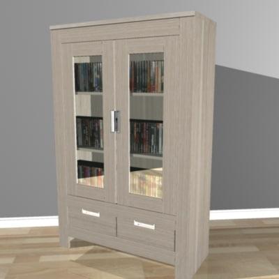 3d oak cabinet model