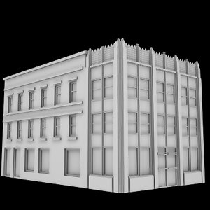 3d model old office building