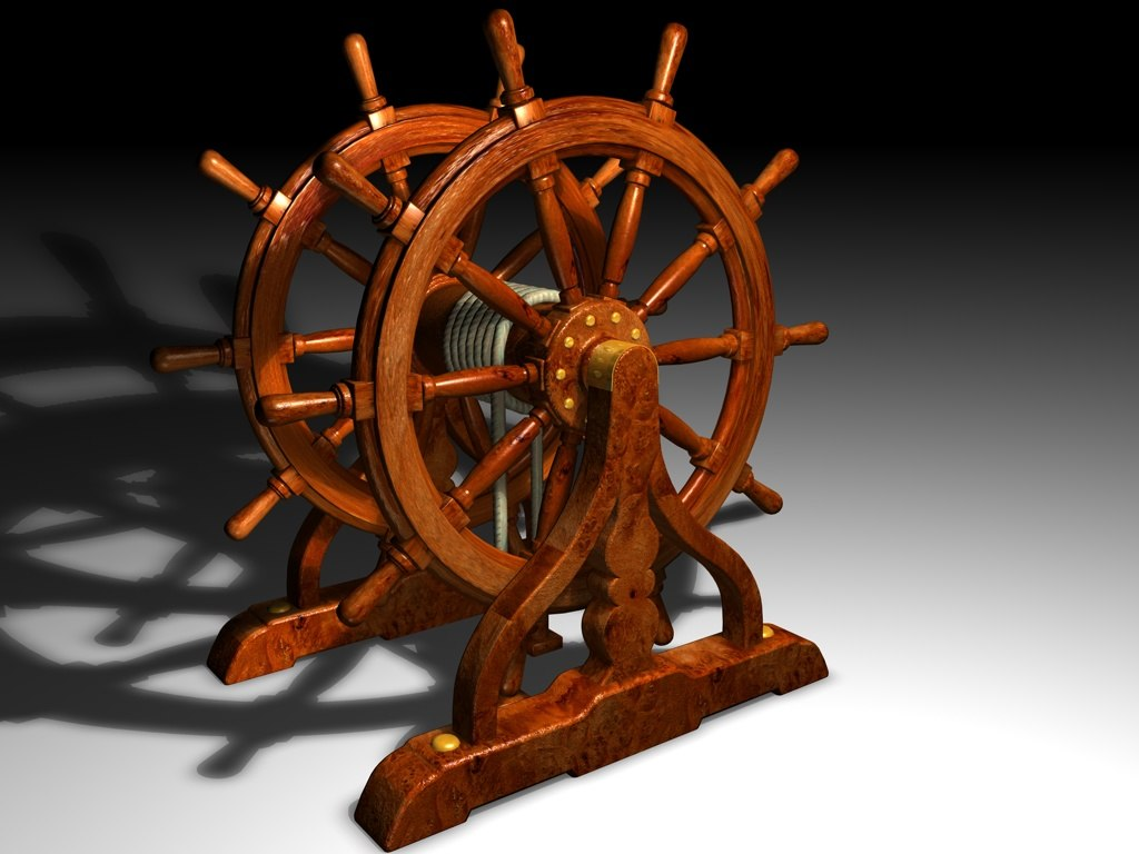 ship wheel 3d c4d