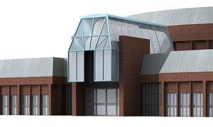 3d starlight banquet hall model