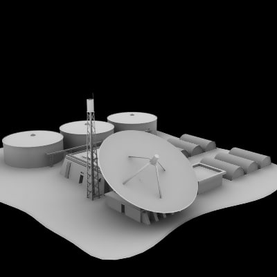 military tracking station 3d 3ds