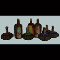 potion icon 3d model