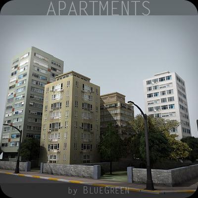 block apartments 3d max