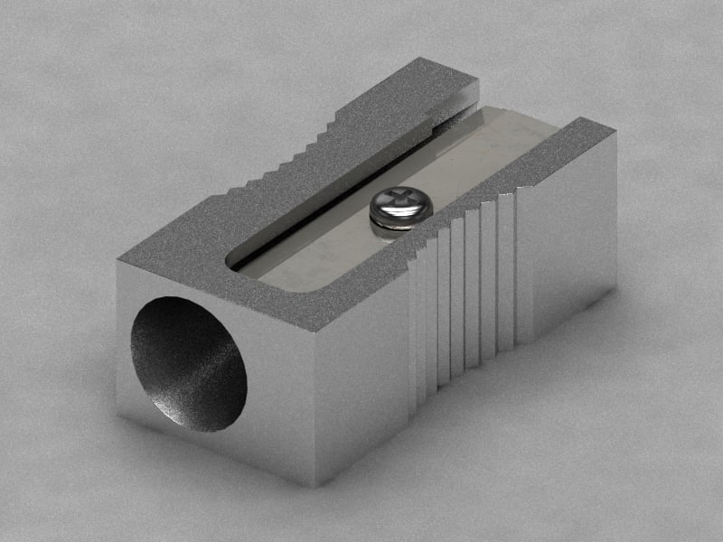 3d pencil sharpner model
