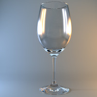 bordeaux wine glass 3d max
