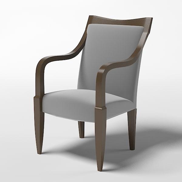 3d model donghia chair