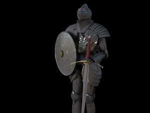 3d model of medieval armour