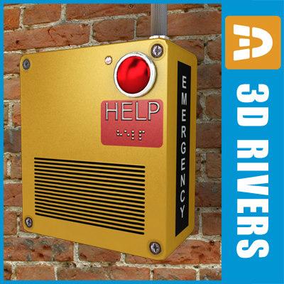 emergency box 3d model