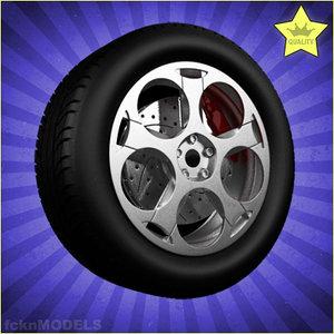 car wheel 3ds