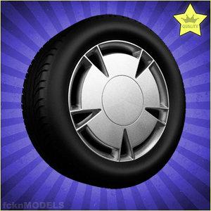 3d model car wheel