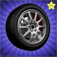 3dsmax car wheel