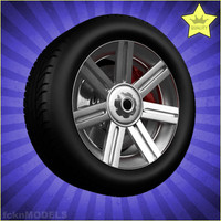 3ds car wheel