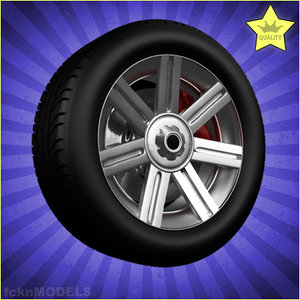 3ds car wheel