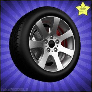 maya car wheel