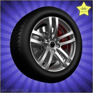 car wheel 3d xsi