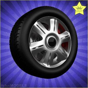 car wheel 3d c4d