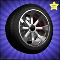 car wheel 3d max