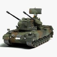 3d modern gepard 35mm anti model