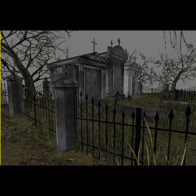 3d graveyard builder grave model