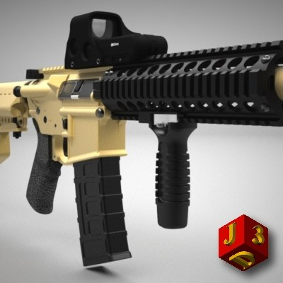 bushmaster urban interdiction rifle 3d model