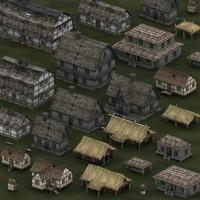 0 medieval houses 3d model