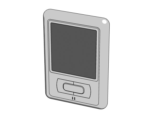 free portable device 3d model