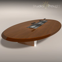 Oval Conference Room Table