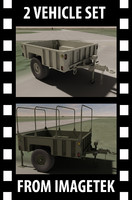 2 Silver Eagle US Military Trailers