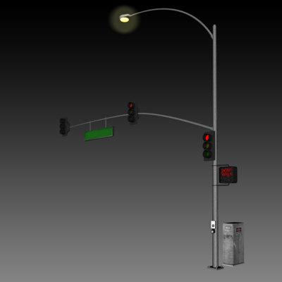 traffic light c4d