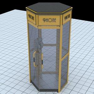phone box 3d model