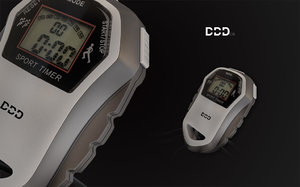 sport timer 3d model