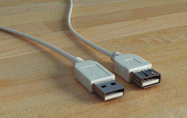 3d model usb cable
