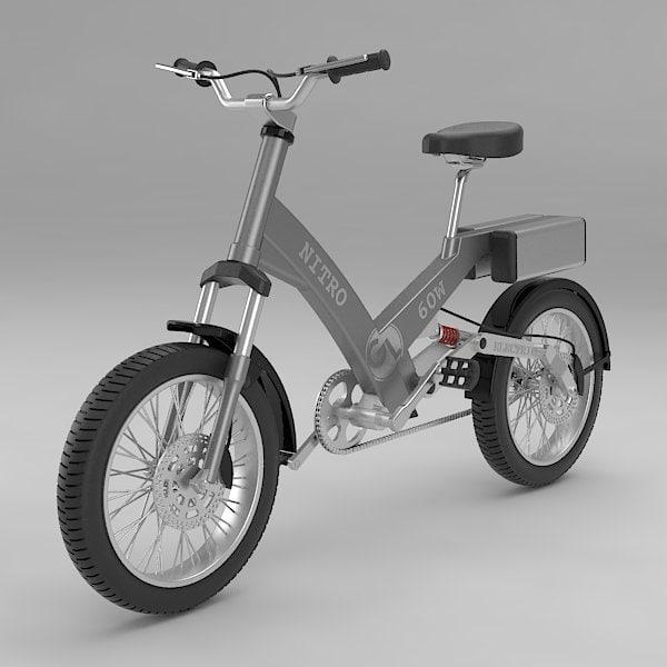 3d model electric bike